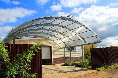 پوشش سقف با پلی کربنات